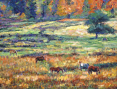 Horse Ranch Painting - Range Country by David Lloyd Glover