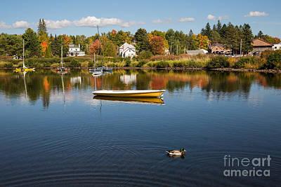 Rangely Lake In Fall Art Print by Brenda Giasson