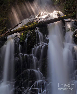 Nature Divine Photograph - Ranger Falls Sunbeams by Mike Reid