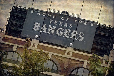 Window Signs Photograph - Rangers Ballpark In Arlington Color by Joan Carroll