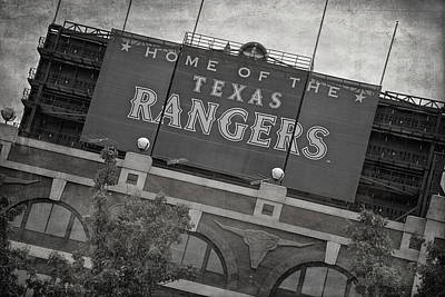 Ballpark Photograph - Rangers Ballpark In Arlington by Joan Carroll