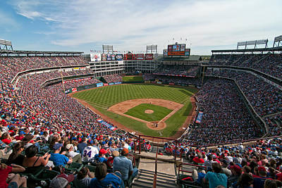 Rangers Ballpark In Arlington Art Print