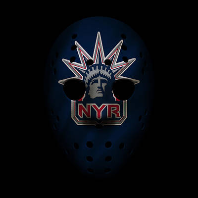 New York Rangers Photograph - Rangers Jersey Mask by Joe Hamilton