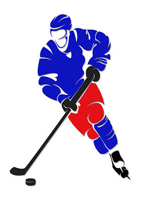 New York Rangers Photograph - Rangers Shadow Player by Joe Hamilton