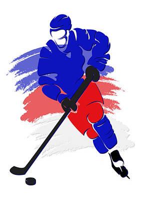 New York Rangers Photograph - Rangers Shadow Player2 by Joe Hamilton