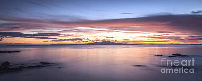 Rangitoto Before Dawn Auckland New Zealand Print by Colin and Linda McKie