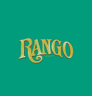 Johnny Depp Digital Art - Rango - Logo by Brand A