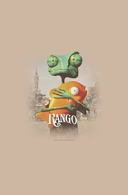 Johnny Depp Digital Art - Rango - Poster Art by Brand A