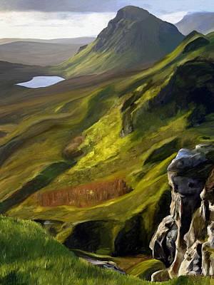 Moody Painting - Rannoch Moor by James Shepherd