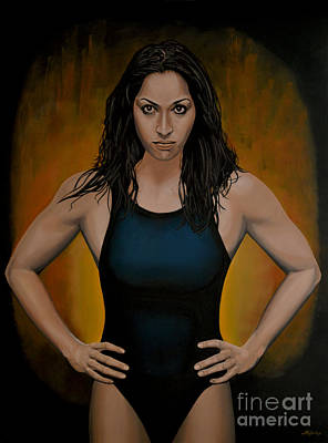 Sports Star Painting - Ranomi Kromowidjojo by Paul Meijering