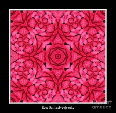 Ranunculus Flower Warp Art Print by Rose Santuci-Sofranko