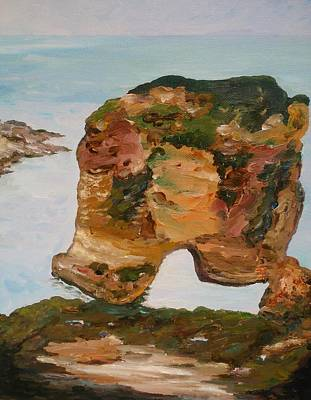 Painting - Raoushe Rock by Ray Khalife