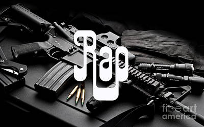 Ak-47 Digital Art - Rap by Marvin Blaine
