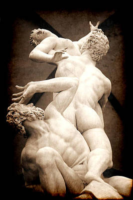 Rape Of The Sabines In Florence Art Print