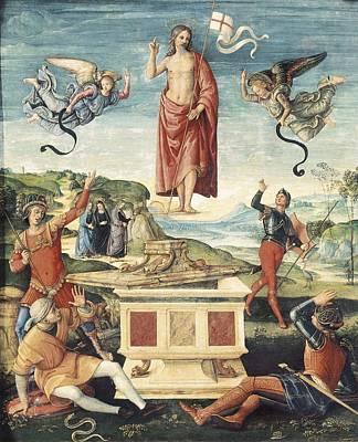 Raphael 1483-1520. Resurrection Art Print