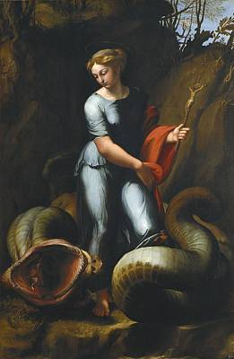 Hagiography Photograph - Raphael 1483-1520. Saint Margaret by Everett