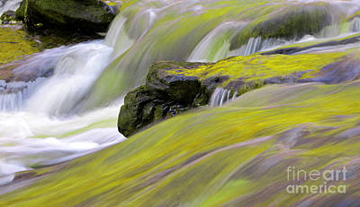 Photograph - Rapids In Blurred Motion by Charline Xia