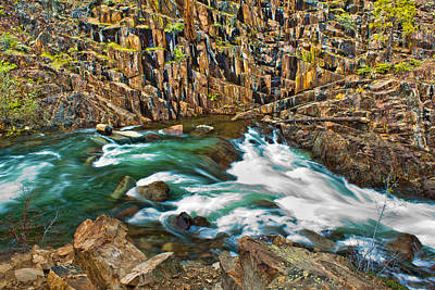 Photograph - Rapids In Northern California  by John McGraw