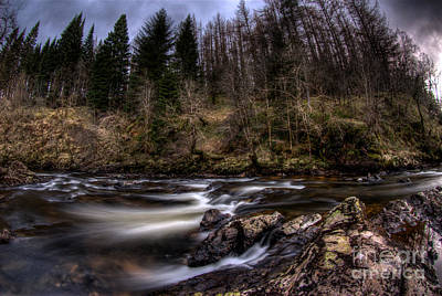Photograph - Rapids On The River Braan 1076 by Colin Munro