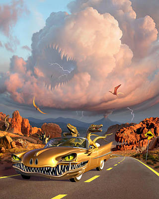 Tooth Digital Art - Rapt Patrol by Jerry LoFaro