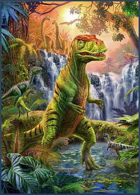 Raptors Drawing - Raptor by Jan Patrik Krasny