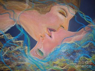 Drawing - The Kiss by Lori  Lovetere