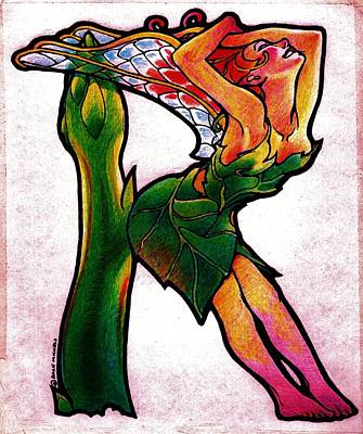 Asparagus Drawing - Rapturous Fairy by Dale Michels