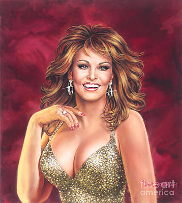Painting - Raquel Welch by Dick Bobnick