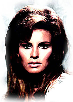 Blockbuster Painting - Raquel Welsh by Paul Quarry