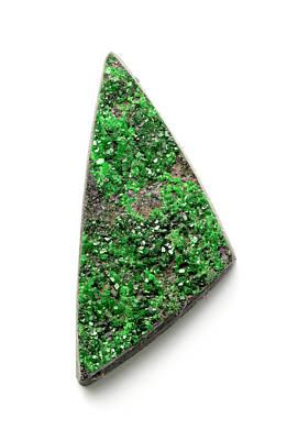 Garnet Photograph - Rare Bright Green Uvarovite Garnet by Dorling Kindersley/uig