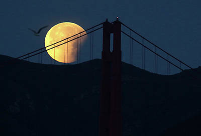 Photograph - Rare Super Blue Blood Moon Makes by Justin Sullivan