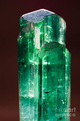 Borosilicate Photograph - Rare Uncut Green Turmaline Gemstone From Pakistan by Stephan Pietzko