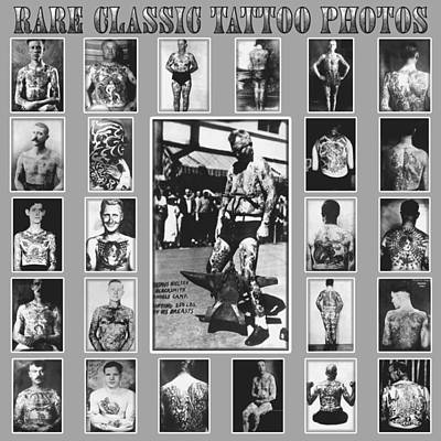 Old School Tattoos Digital Art - Tattoo Photograph Poster by Larry Mora