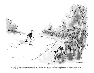 Athletics Drawing - Rarely, If Ever, Has Any Contender In The Masters by James Stevenson