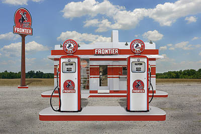 Gas Pump Wall Art - Photograph - Rarin To Go - Frontier Station by Mike McGlothlen