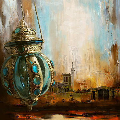 Arabic Painting - Ras Al Khaimah by Corporate Art Task Force