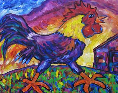 Painting - Rascally Roger Rooster II by Dianne  Connolly
