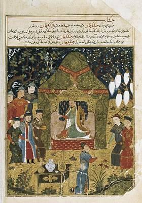 Yurt Photograph - Rashid Al-din 1247 - 1318. Compendium by Everett