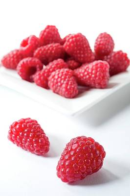 Raspberry Photograph - Raspberries by Aberration Films Ltd