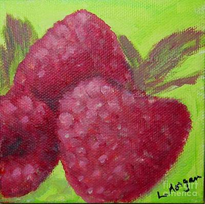 Painting - Raspberries by Laurie Morgan