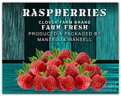 Raspberry Mixed Media - Raspberry Farm by Marvin Blaine