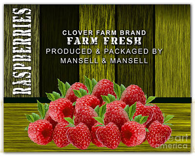 Raspberry Mixed Media - Raspberry Fields by Marvin Blaine