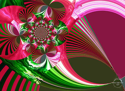 Digital Art - Raspberry Garden by Absinthe Art By Michelle LeAnn Scott