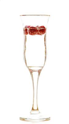 Champagne Photograph - Raspberry In A Glass by Maurizio Incurvati