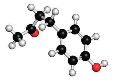 Raspberry Ketone Molecule Print by Molekuul