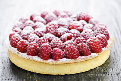Fruit Photograph - Raspberry Tart by Elena Elisseeva