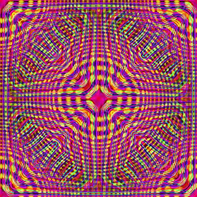 Test Pattern Digital Art - Raspberry Test Pattern by Del Gaizo