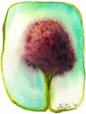 Raspberry Tree Art Print by Hilary Slater
