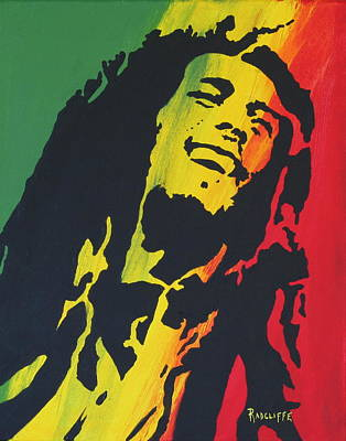 Rasta Bob Art Print