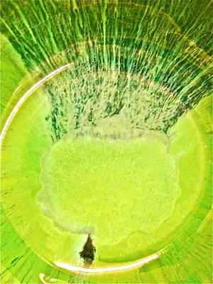 Bob Marley Abstract Painting - Rasta Man Limegreen by Richard Sean Manning